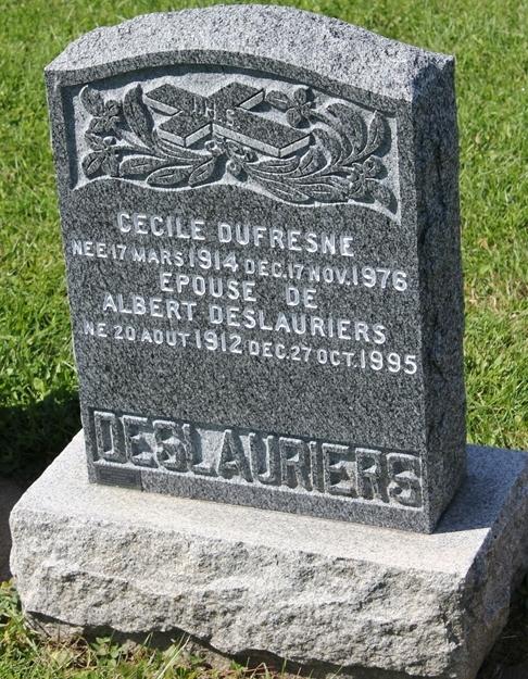 Décès d'Édouard Deslauriers T6215